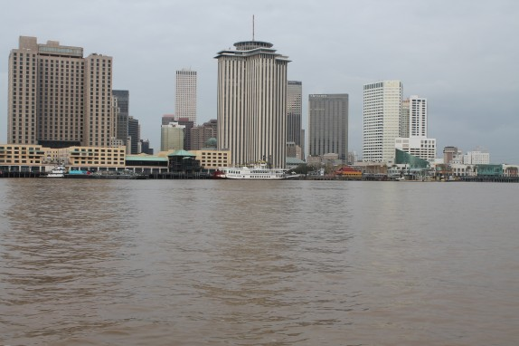 New Orleans skyline from Mississippi River