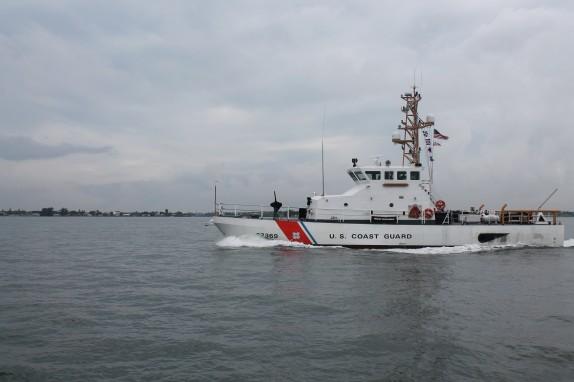 Coast Guard on patrol coming into Tampa Bay