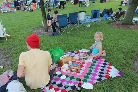 Our colorful picnic spread.