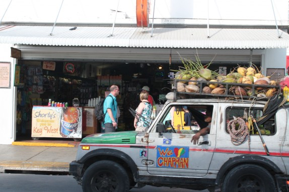 The coconut man did brisk business. Suggested donation was $5. No one seems to have a fixed price at KW.