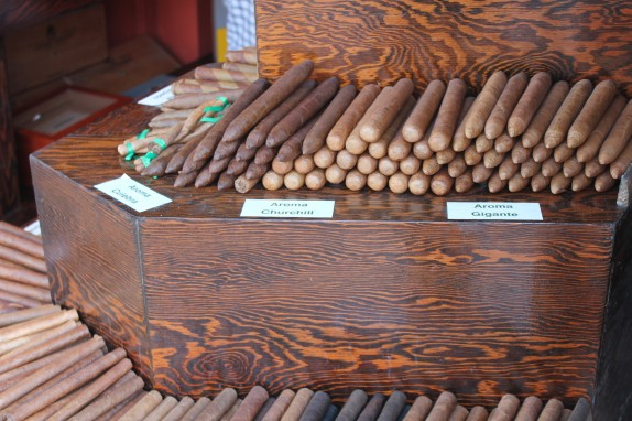 Saw plenty of these being smoked by those Hemingway look-alikes that hang around