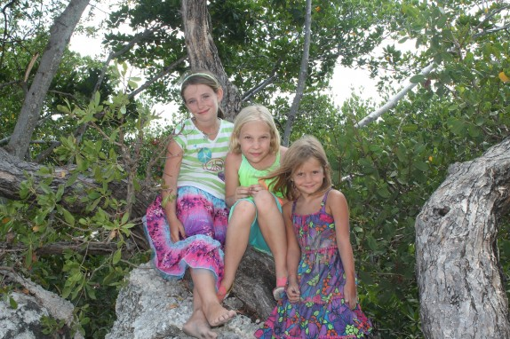 Payton, Lily and Layke in the mangroves