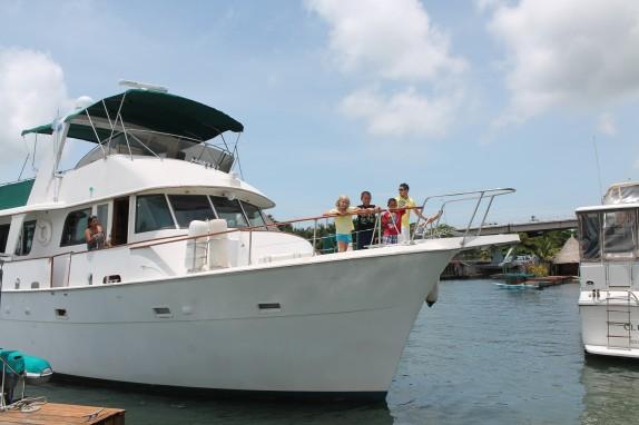 MV Tiana approaching the dock.