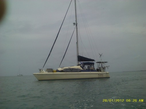Foxtrot under overcast skies in Placencia