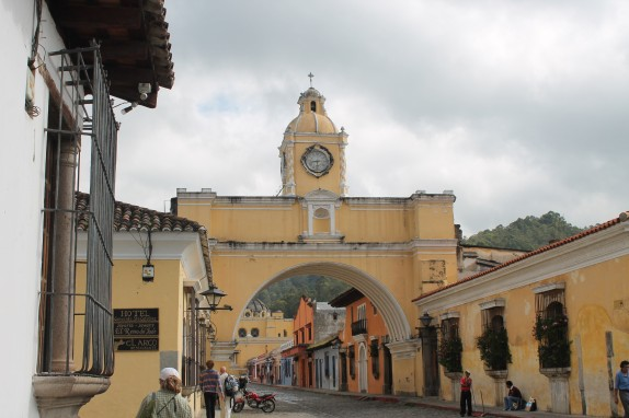 The arch in town is another Antigua landmark