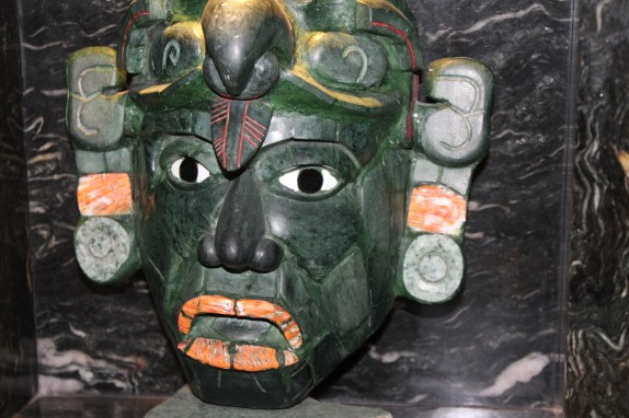 Jade masks are put together on a wooden mask and then often used as a burial decoration.