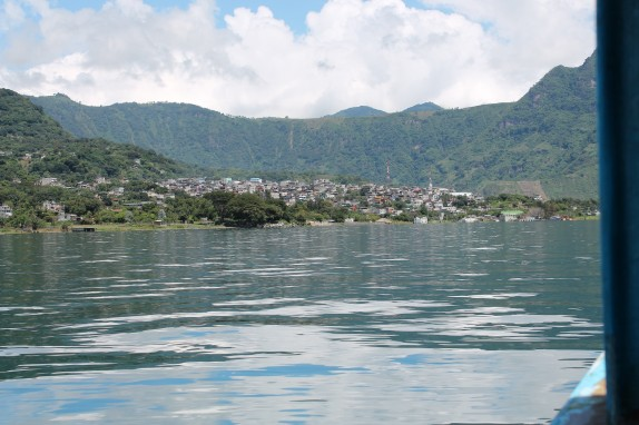 Lake Atitlan's villages are all built on the steep volcano sides.