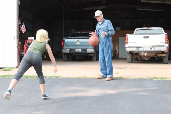 Bounce pass practice