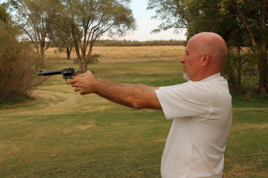 Randall taking aim.