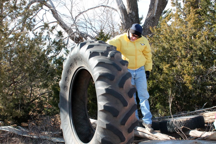 We could have a heck of a tire swing.