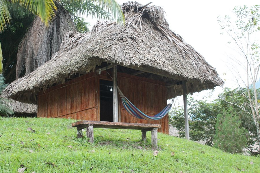 Our palapa overlooking Rio Cahabon