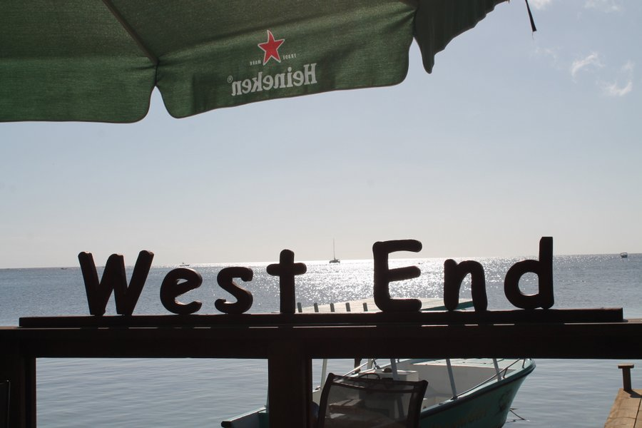 West End Bar overlooking the anchorage