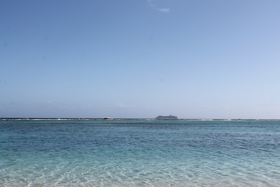Cruise ship headed to sea.