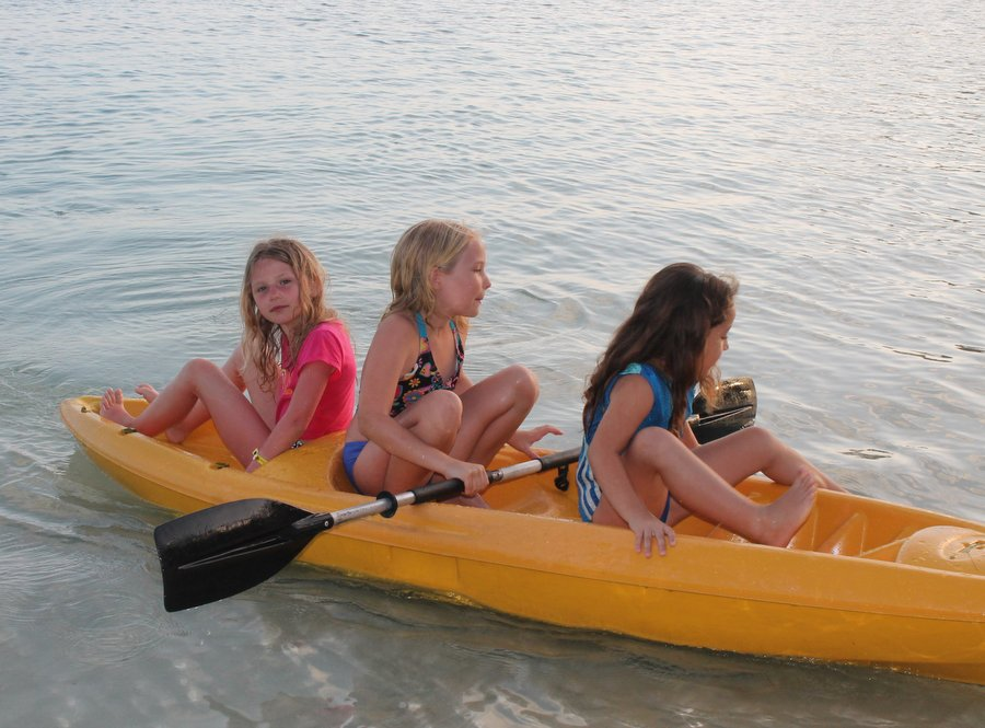 We had a lot of fun on the kayak.