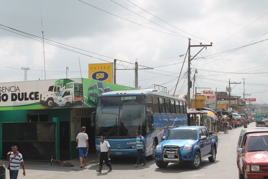 Bus station at Fronteres