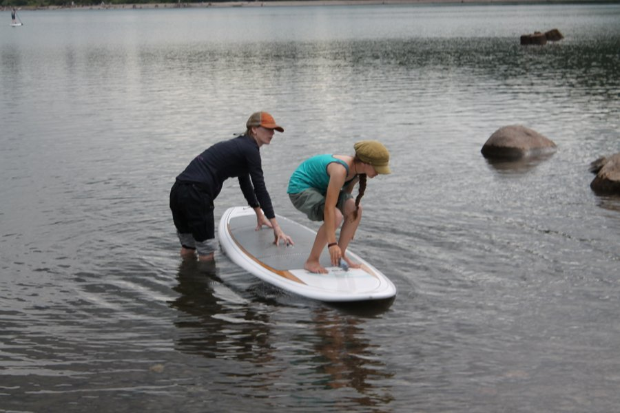 Paddleboarding on Rattlesnake Lake.
