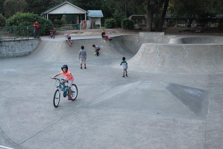 Shreddin' in the skatepark
