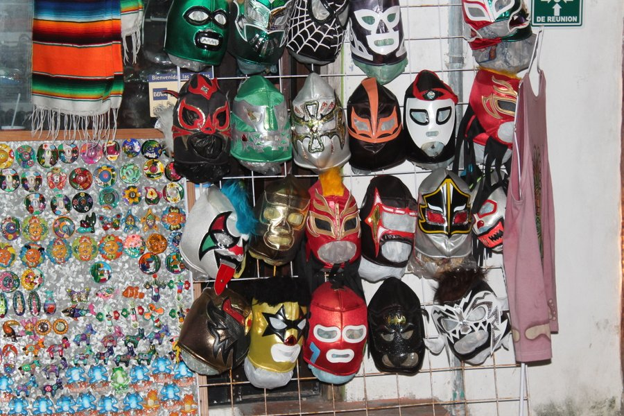 Yes, a few kids wore Mexican wrestling masks and we could have joined in the fun for a few pesos.
