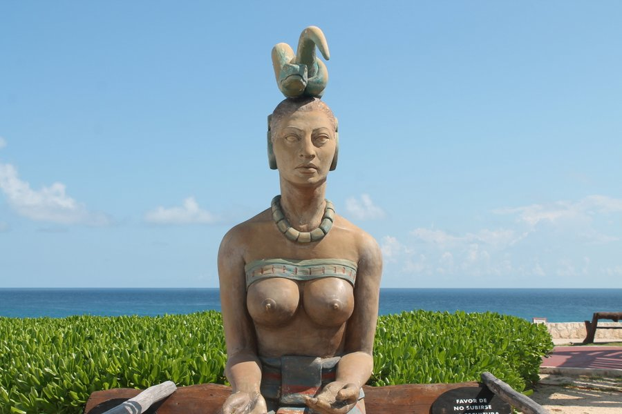 Comely statue at the island's Point Sur.