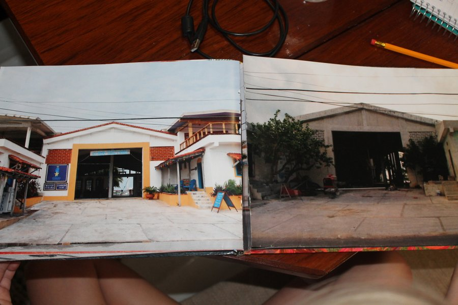 The before and after picture of El Milagro from the street.