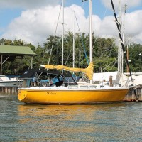 Ms. Julia's pretty yellow boat
