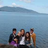 Group picture in front of Samish Bay.