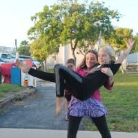 Peyton and Lily perfecting their ballet routine.